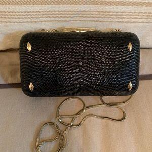 Henri Bendel black evening bag